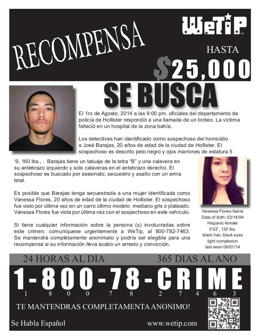 Barajas Wanted Spanish
